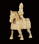 Wei dynasty mounted equestrian figure (side)